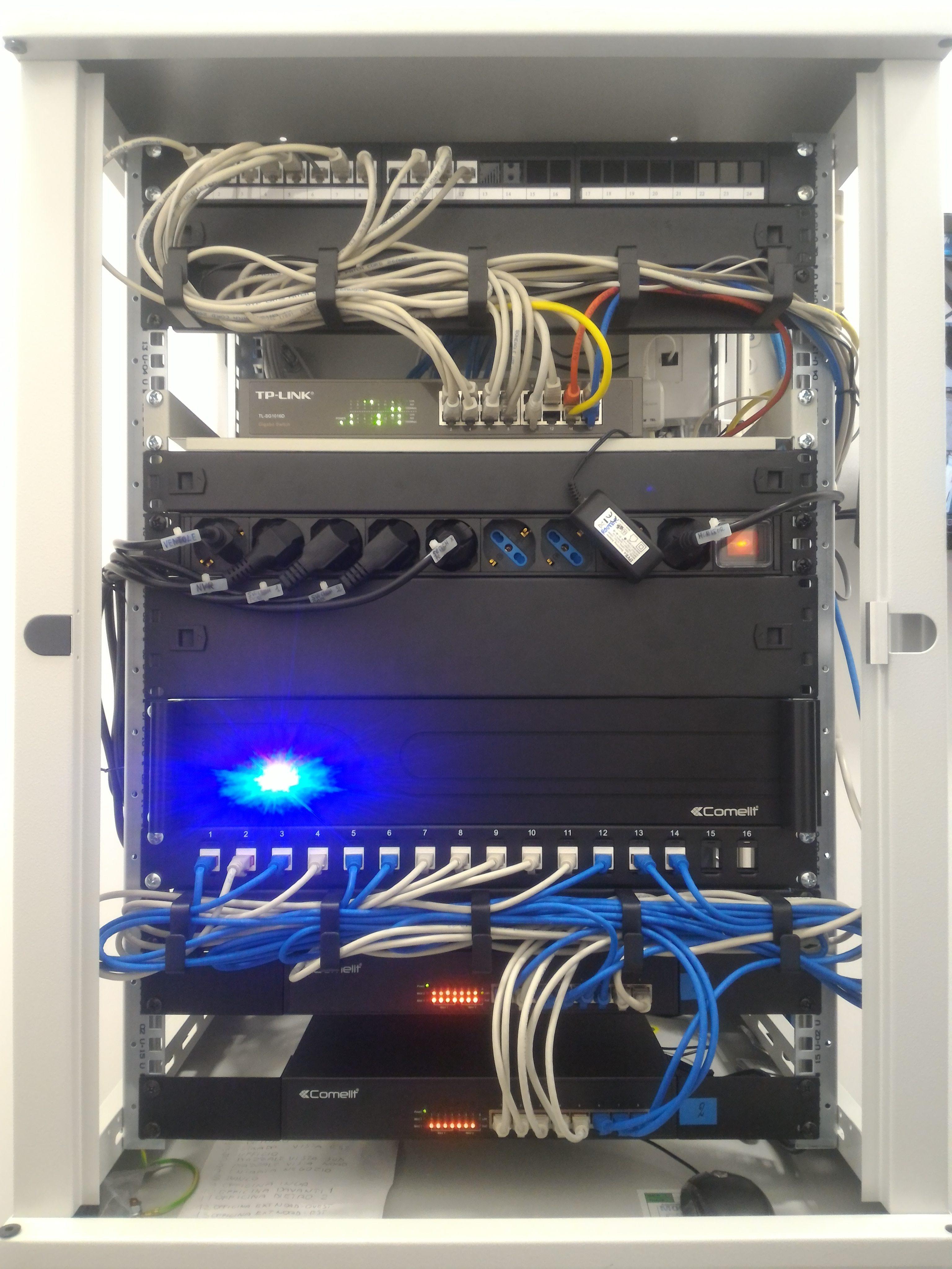 Rack Switch Poe Nvr1 e Nvr2
